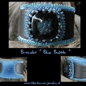 Beadwork Bracelets with Fused Glass